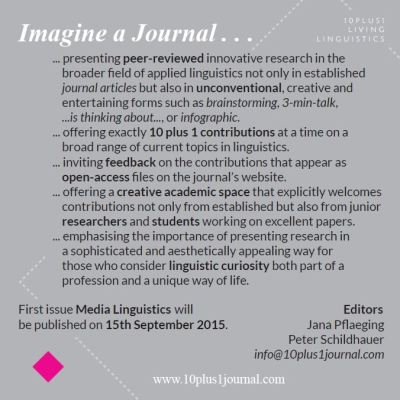 Flyer | Journal 10plus1: Living Linguistics