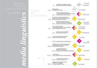 Table of Contents | Journal 10plus1: Living Linguistics | Issue 01