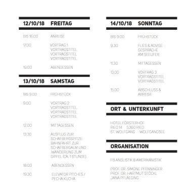 "Flyer/Poster | Retraite ""Digital Humanities"" | DSP Linguistik: Kontakt - Variation - Wandel | Salzburg University | Organization: Pfenninger/Stöckl/Pflaeging"