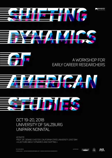 "Poster | Workshop ""Shifting Dynamics of American Studies"" | Department of English and American Studies | Salzburg University"